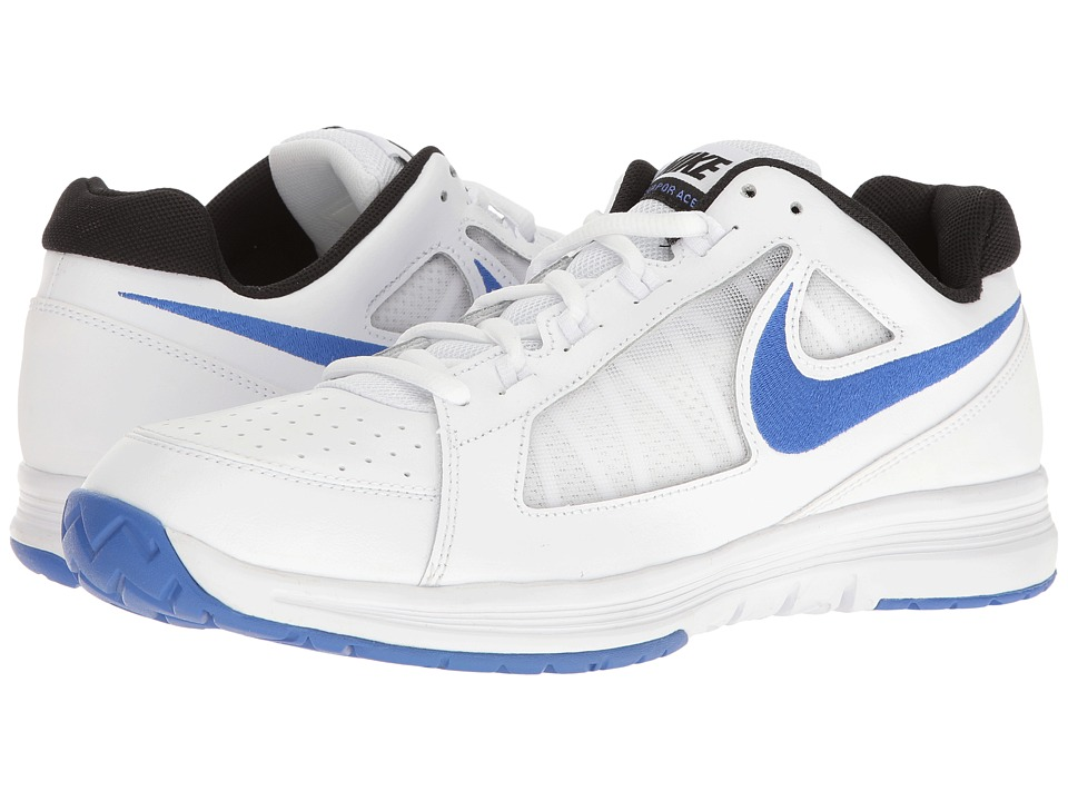 Nike - Air Vapor Ace (White/Medium Blue/Black) Men's Tennis Shoes
