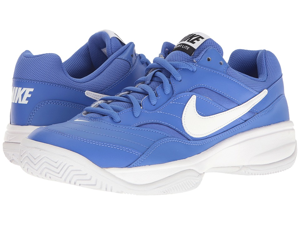 Nike - Court Lite (Medium Blue/White) Men's Tennis Shoes