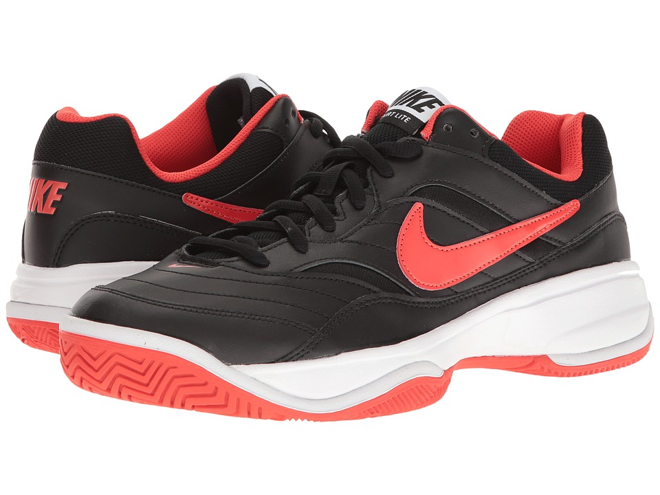 Nike - Court Lite (Black/Max Orange/White) Men's Tennis Shoes
