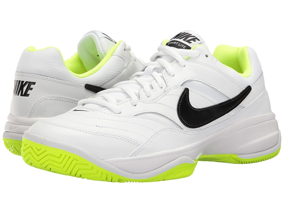 Nike - Court Lite (White/Black/Volt) Men's Tennis Shoes
