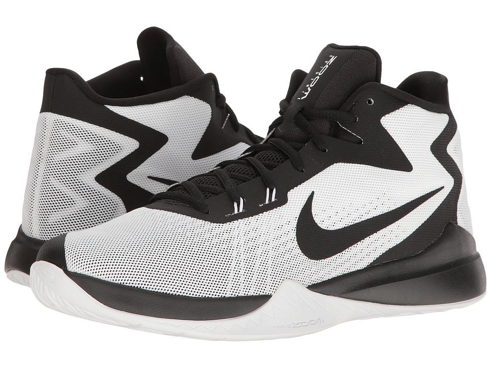 Nike - Zoom Evidence (White/Black/Black/Wolf Grey) Men's Basketball Shoes