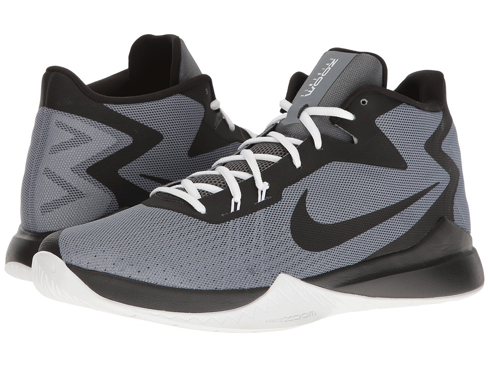 Nike - Zoom Evidence (Cool Grey/White/Pure Platinum/Wolf Grey) Men's Basketball Shoes