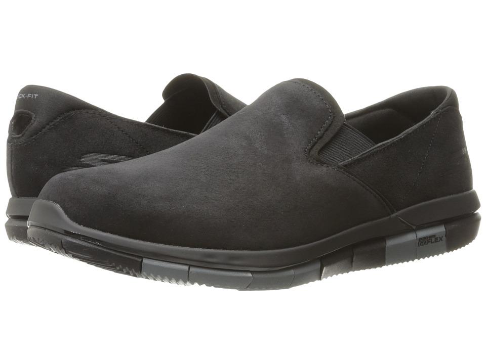 SKECHERS Performance - Go Flex - Comrade (Black/Gray) Men's Shoes