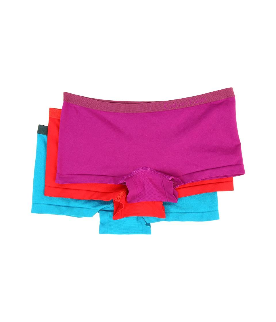 Calvin Klein Underwear - Pure Seamless 3-Pack Boyshorts (Multi) Women's Underwear