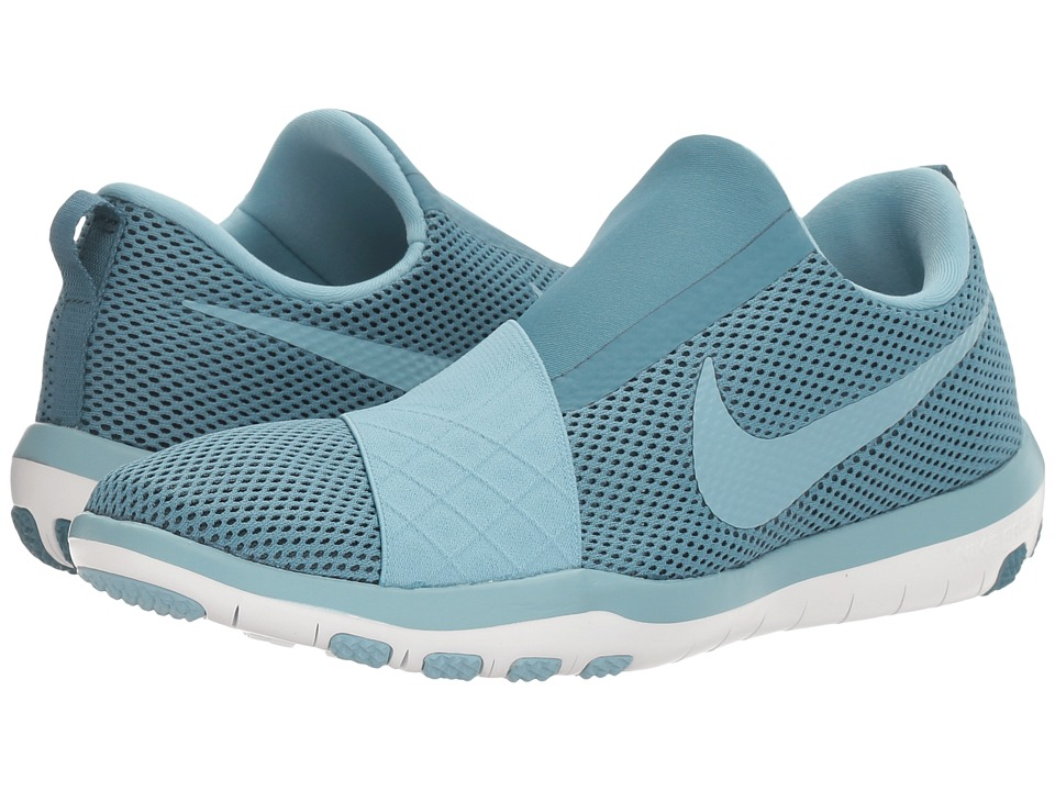 Nike - Free Connect (Smokey Blue/Mica Blue/White) Women's Slip on Shoes