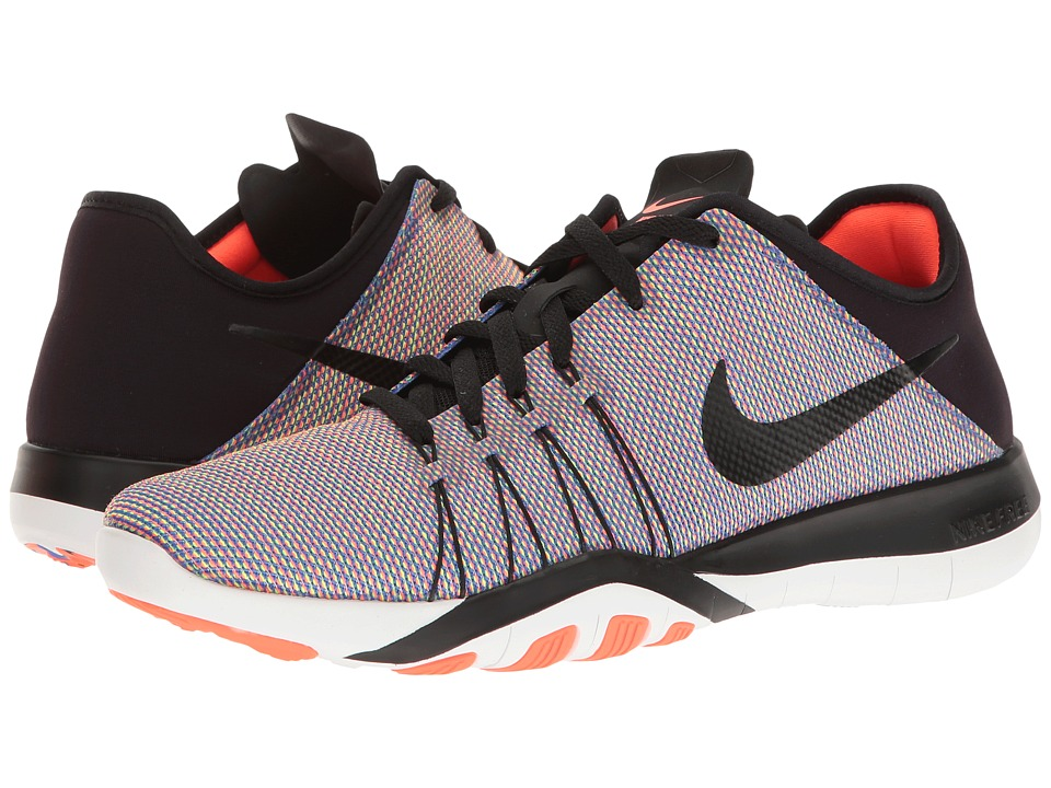 Nike - Free TR 6 PRT (Black/Black/Total Crimson/White) Women's Cross Training Shoes