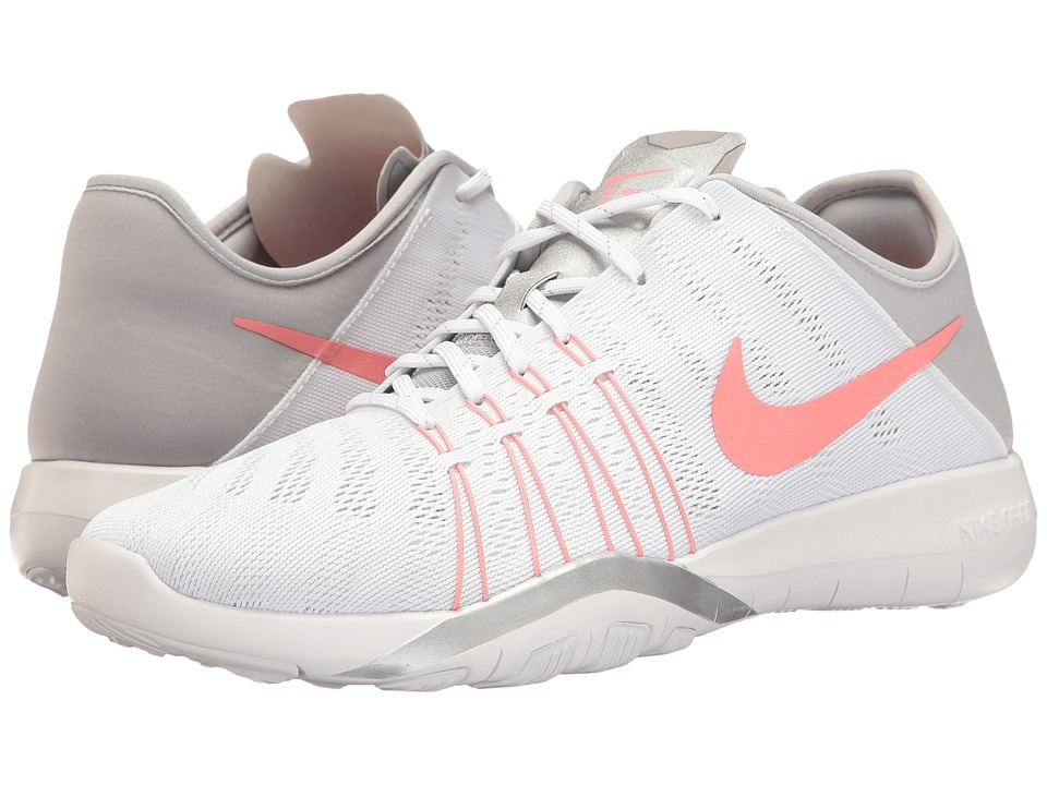 Nike - Free TR 6 (White/Bright Melon/Wolf Grey) Women's Cross Training Shoes