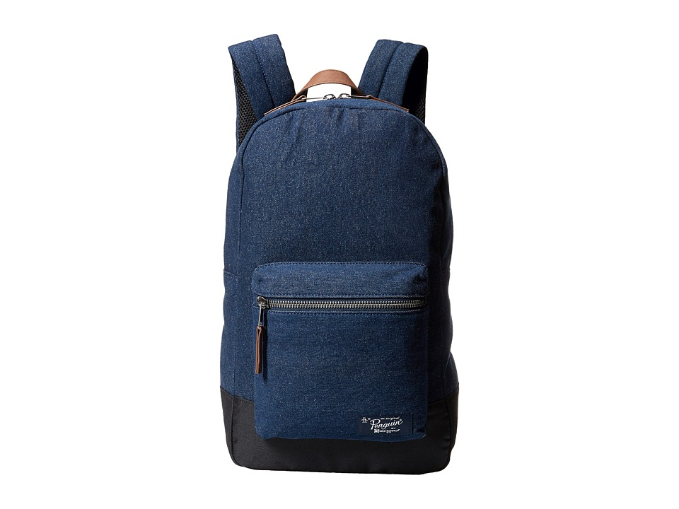 Original Penguin - Denim Backpack (Dark Sapphire) Backpack Bags