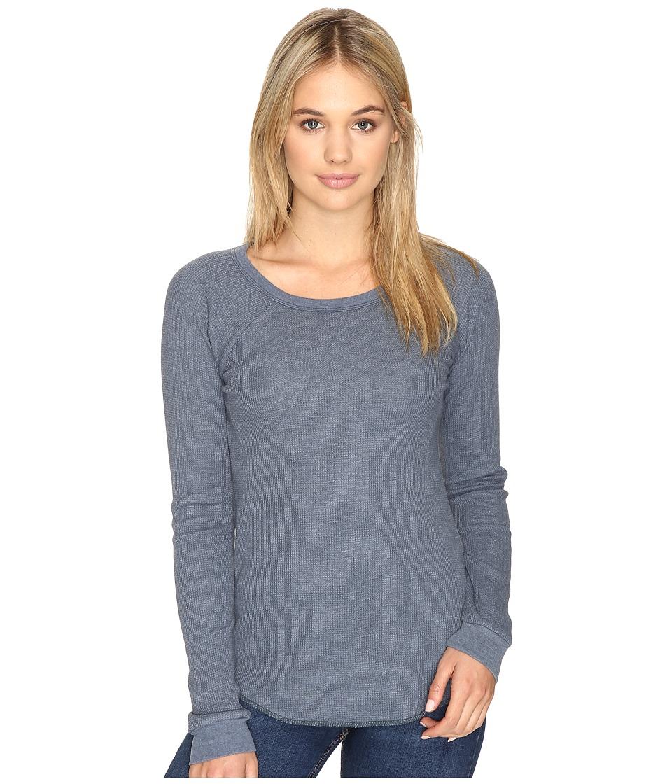 Obey - Throwback Thermal Raglan (Dusty Dark Slate) Women's Clothing