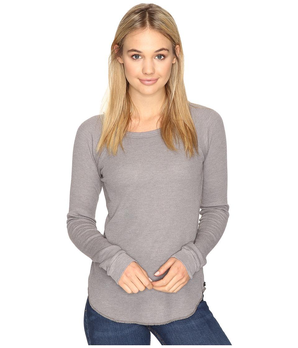 Obey - Throwback Thermal Raglan (Dusty Stone Grey) Women's Clothing