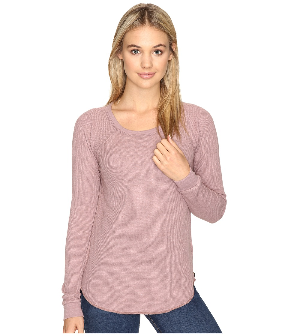 Obey - Throwback Thermal Raglan (Dusty Taupe) Women's Clothing
