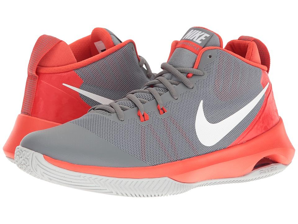 Nike - Air Versatile (Cool Grey/White/Max Orange/Wolf Grey) Men's Basketball Shoes