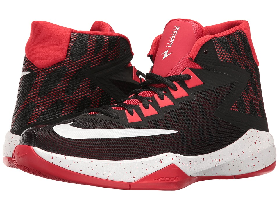 Nike - Zoom Devosion (Black/White/University Red) Men's Basketball Shoes