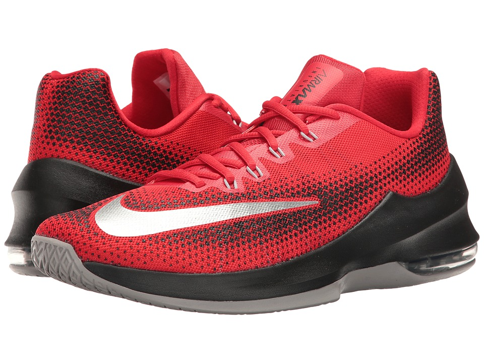 Nike - Air Max Infuriate Low (University Red/White/Black/Total Crimson) Men's Basketball Shoes