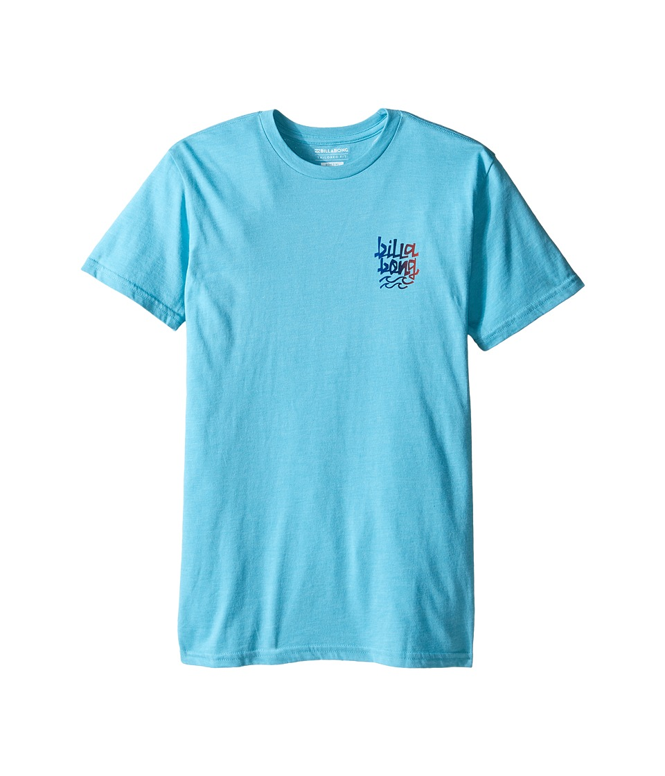 Billabong Kids - Hula Short Sleeve Shirt (Big Kids) (Aqua Heather) Boy's Clothing