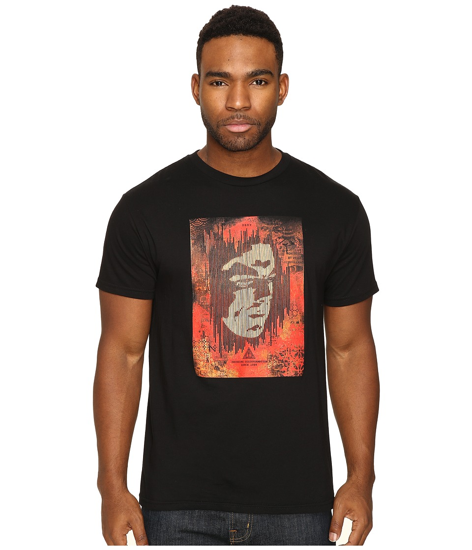 Obey - Decoding Disinformation (Black) Men's T Shirt