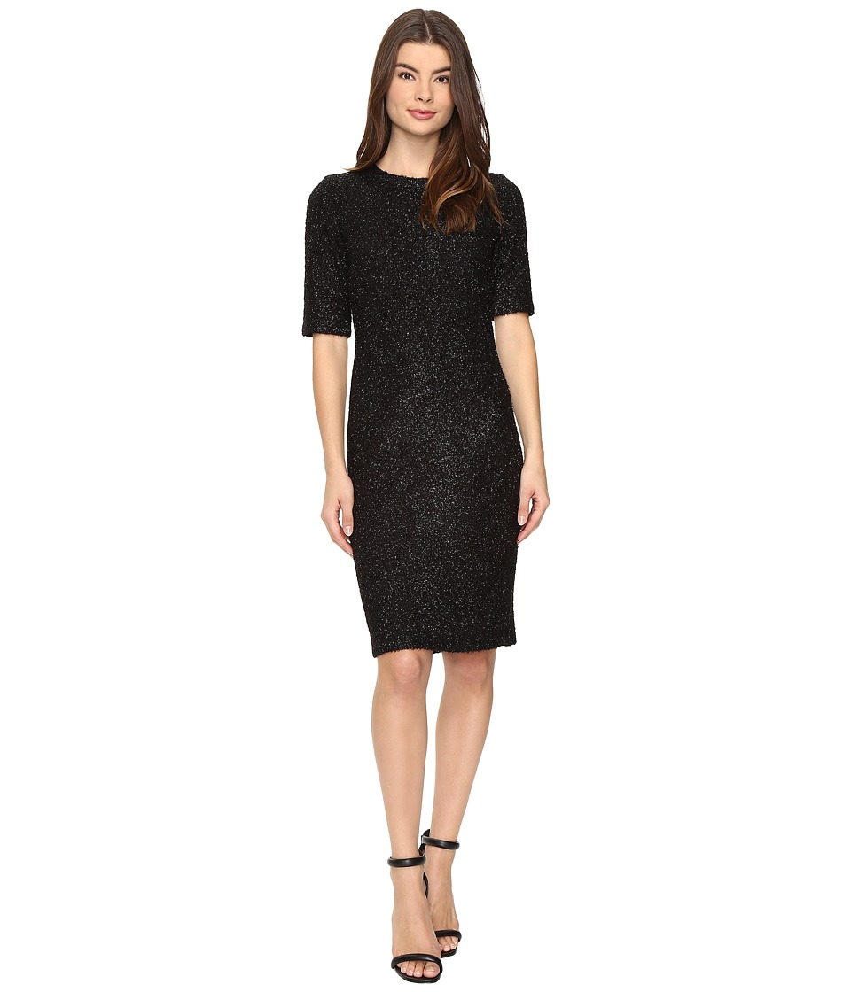 Christin Michaels - Verity Sparkle Bodycon Midi Dress (Black) Women's Dress