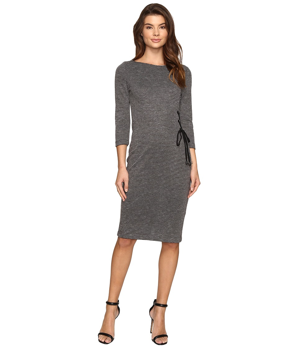 Christin Michaels - Lillia Side Lace-Up Bodycon Midi Dress (Grey) Women's Dress