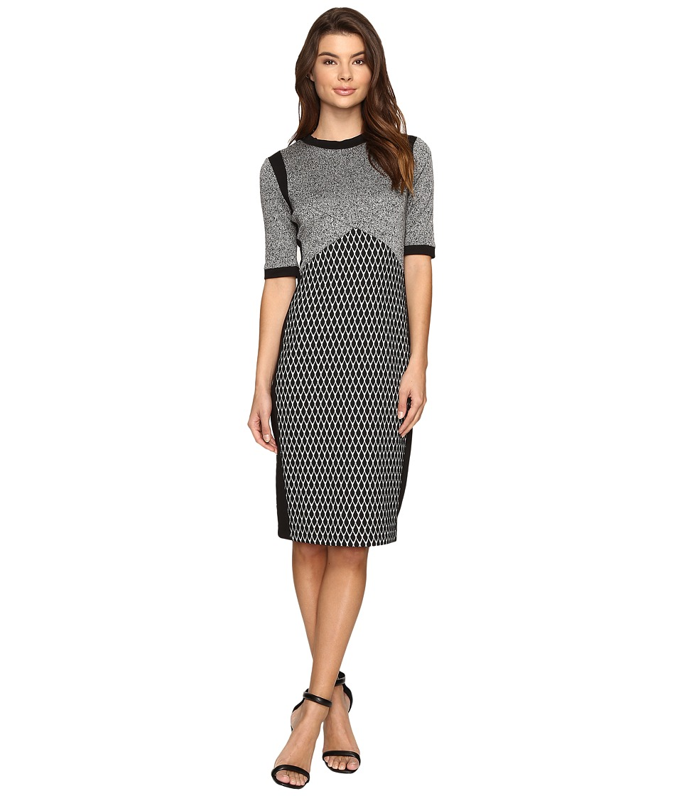 Christin Michaels - Katina Bodycon Midi Dress (Grey/Black) Women's Dress