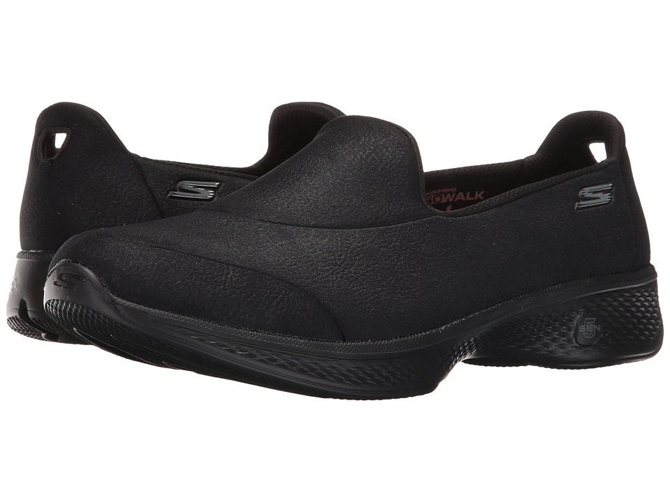 SKECHERS Performance - Go Walk 4 - Inspire (Black) Women's Shoes