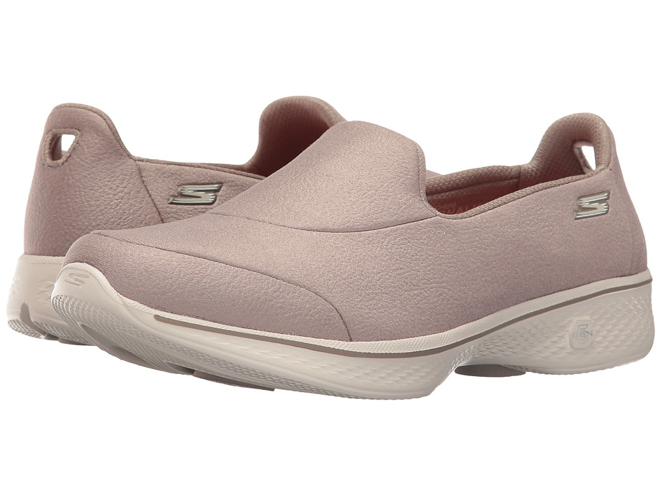 SKECHERS Performance - Go Walk 4 - Inspire (Taupe) Women's Shoes