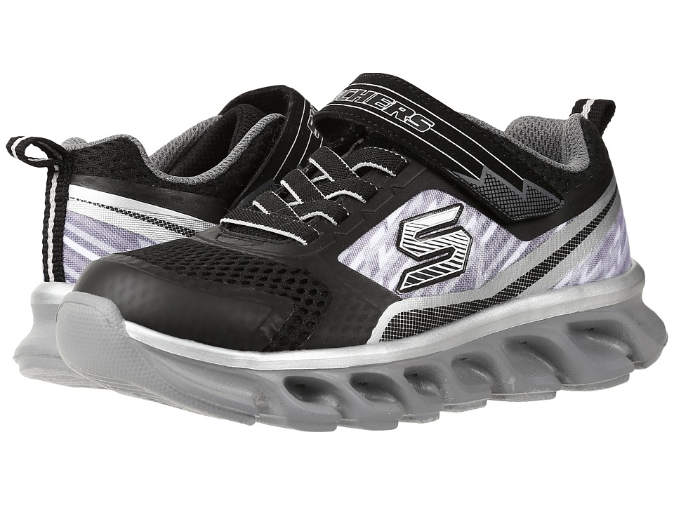 SKECHERS KIDS - Hypno - Flash 90581L Lights (Little Kid) (Black/Silver) Boys Shoes