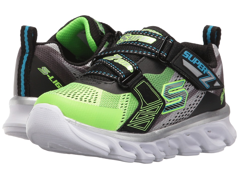 SKECHERS KIDS - Hypno - Flash 90580L Lights (Little Kid) (Lime/Black) Boys Shoes