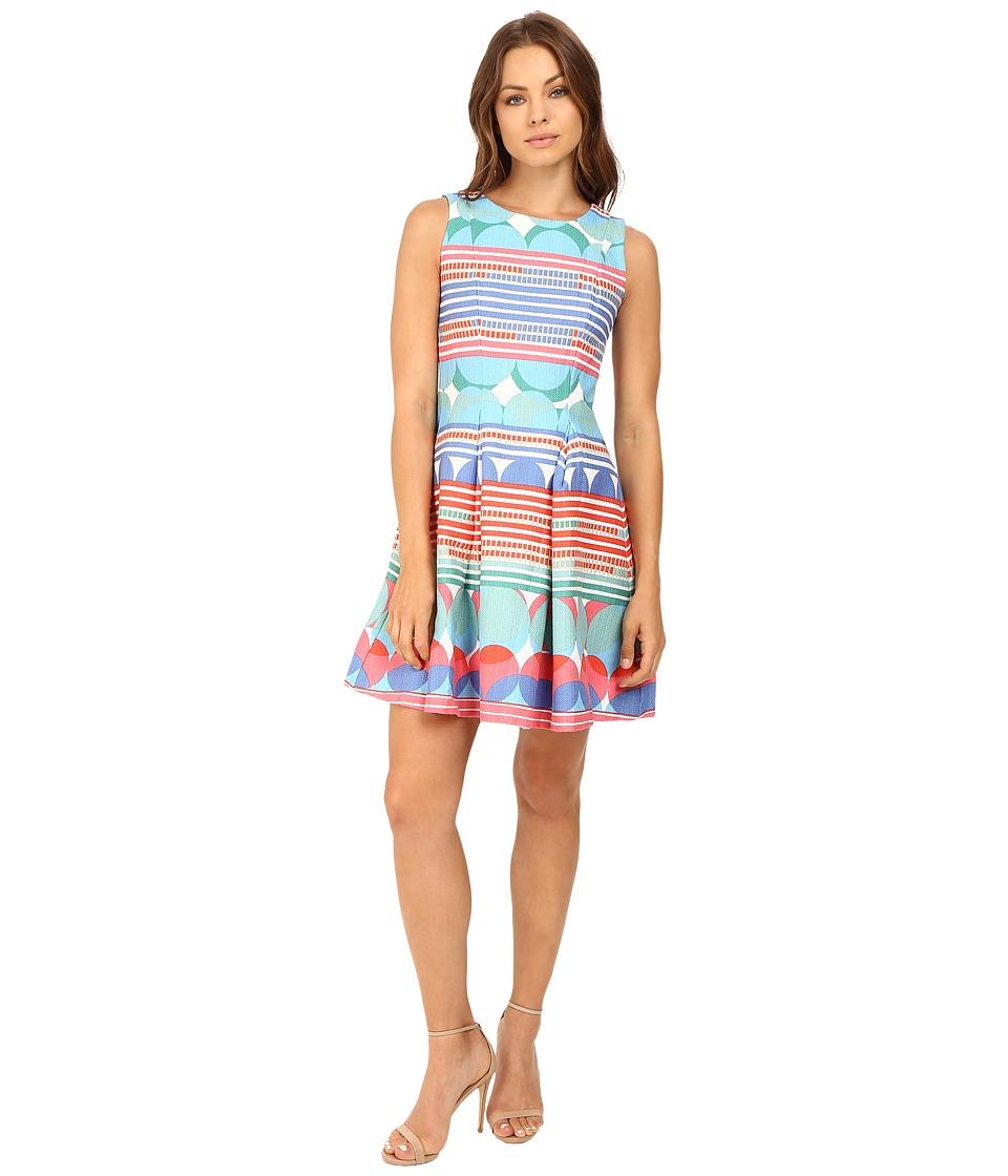 Christin Michaels Kai Cotton Jacquard Fit and Flare Dress (Multi) Women
