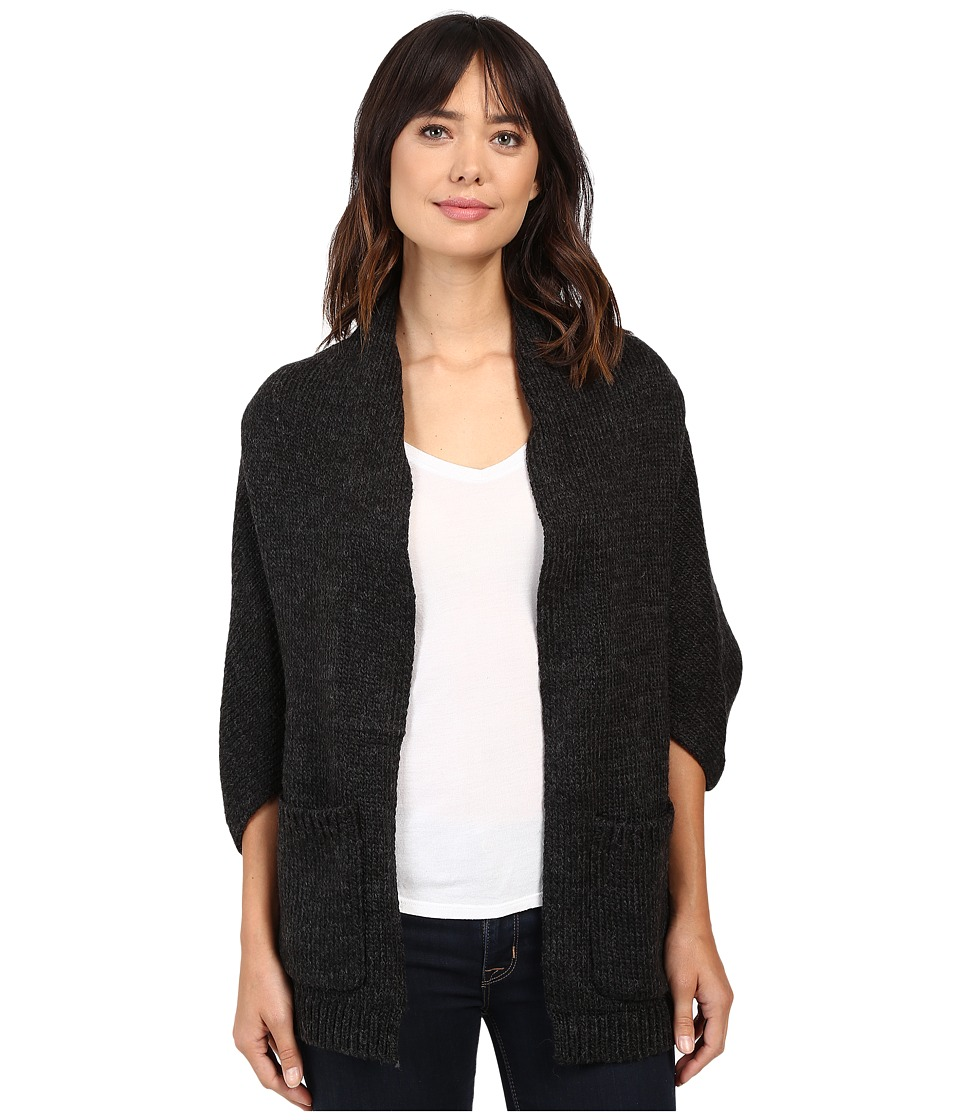 Christin Michaels - Clarrisa Shrug Cardigan with Pockets (Charcoal) Women's Sweater