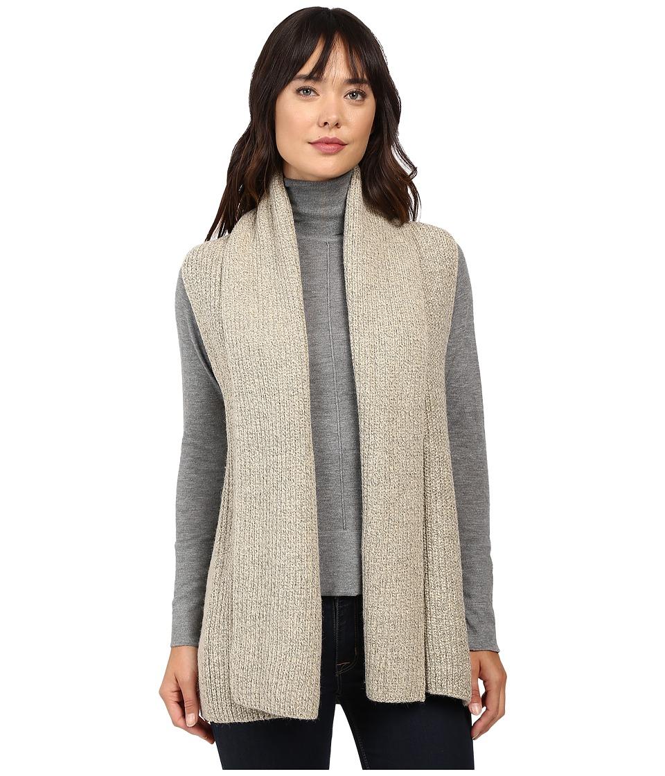 Christin Michaels - Willow Knit Vest Cardigan (Beige) Women's Sweater