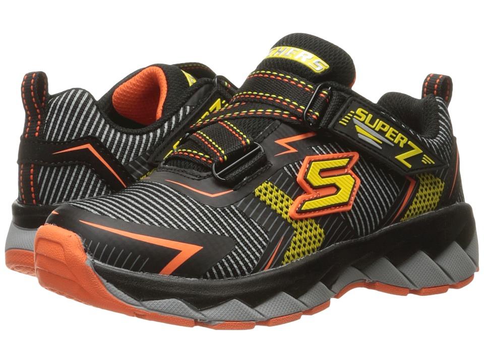 SKECHERS KIDS - Zipperz 95970L (Little Kid/Big Kid) (Black/Yellow/Orange) Boy's Shoes