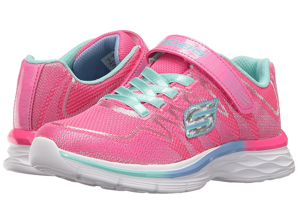 SKECHERS KIDS - Dream N' Dash 81131L (Little Kid/Big Kid) (Neon Pink/Aqua) Girl's Shoes