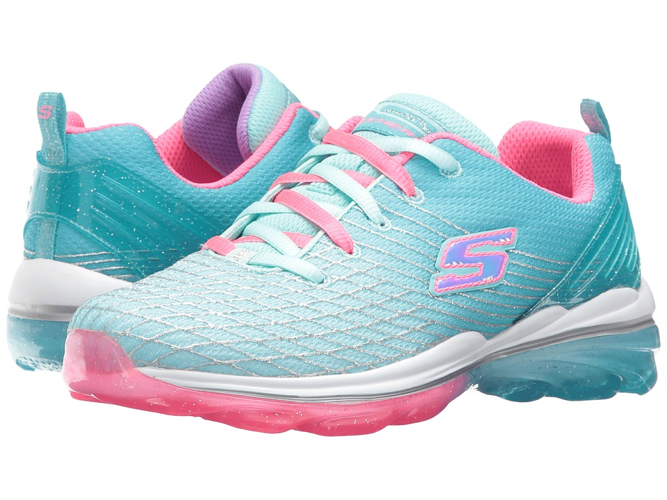 SKECHERS KIDS - Skech Air Deluxe 81195L (Little Kid/Big Kid) (Aqua/Pink) Girl's Shoes