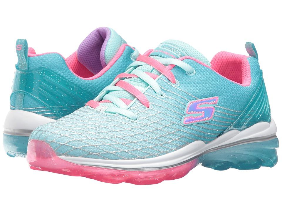 SKECHERS KIDS - Skech Air Deluxe 81195L (Little Kid/Big Kid) (Aqua/Pink) Girl's Shoes