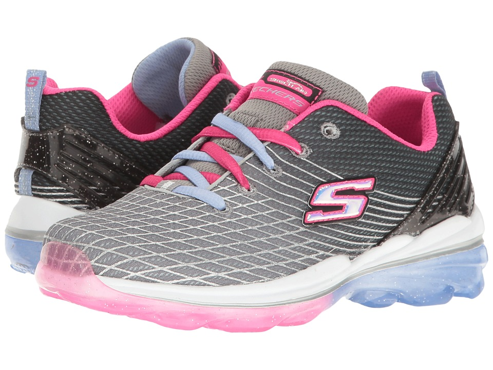 SKECHERS KIDS - Skech Air Deluxe 81195L (Little Kid/Big Kid) (Charcoal/Multi) Girl's Shoes