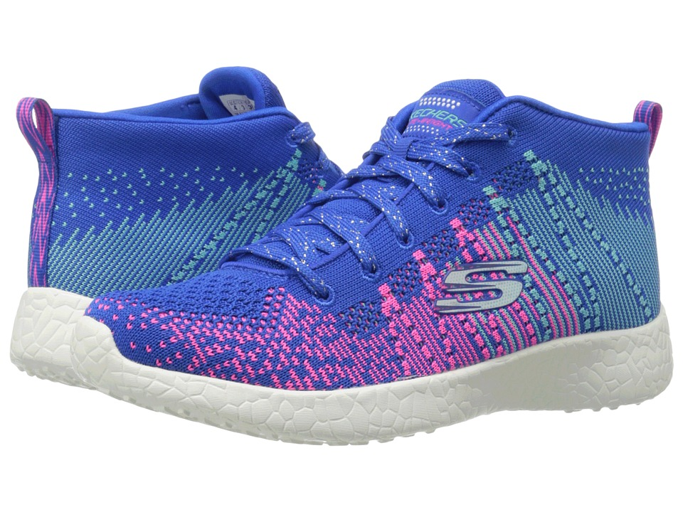 SKECHERS KIDS - Energy Burst - Sweet Symphony 81909L (Little Kid/Big Kid) (Blue/Hot Pink) Girl's Shoes