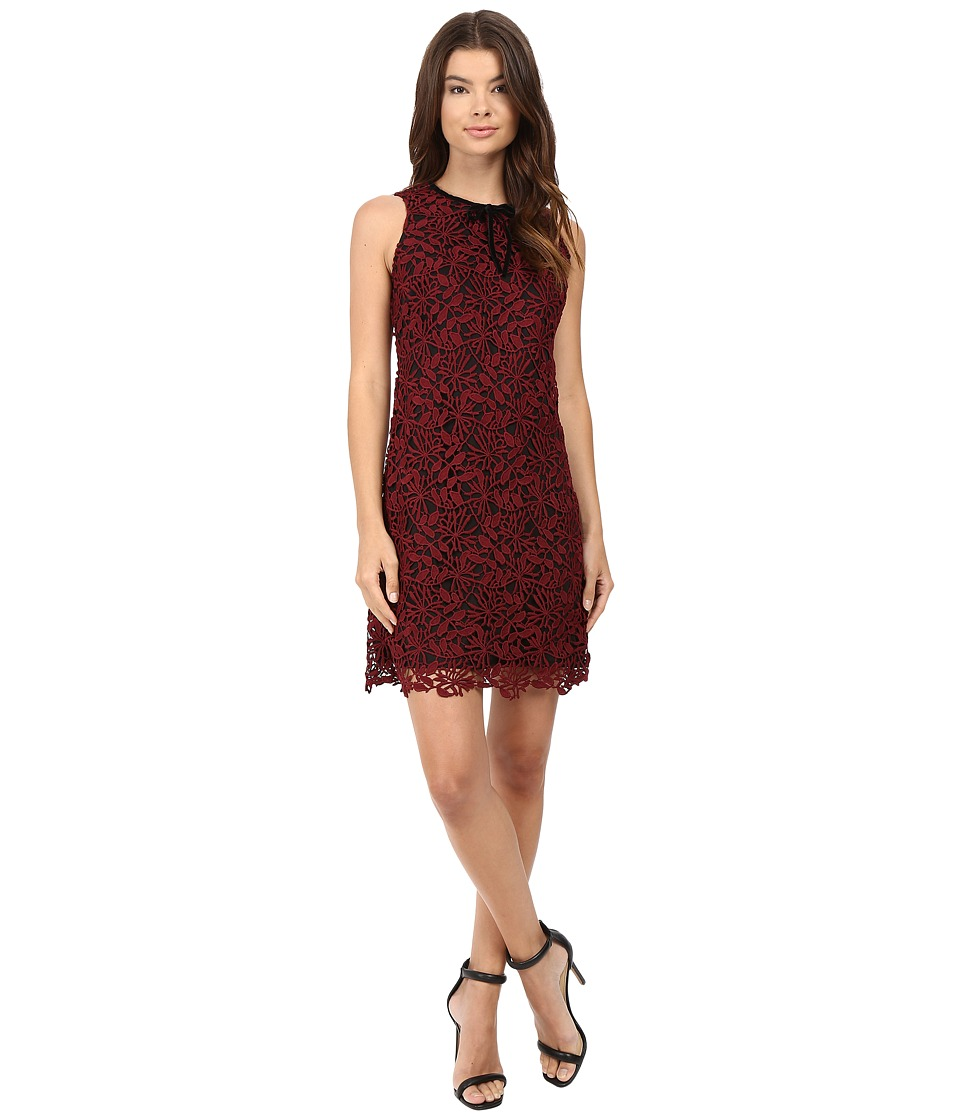 rsvp Aanya Sleeveless Lace Dress (Wine) Women