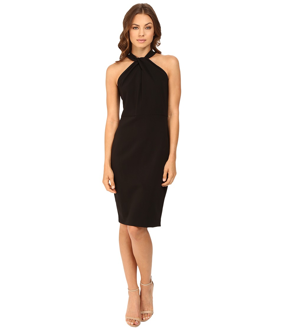 Christin Michaels - Amal Crepe Halter Dress (Black) Women's Dress