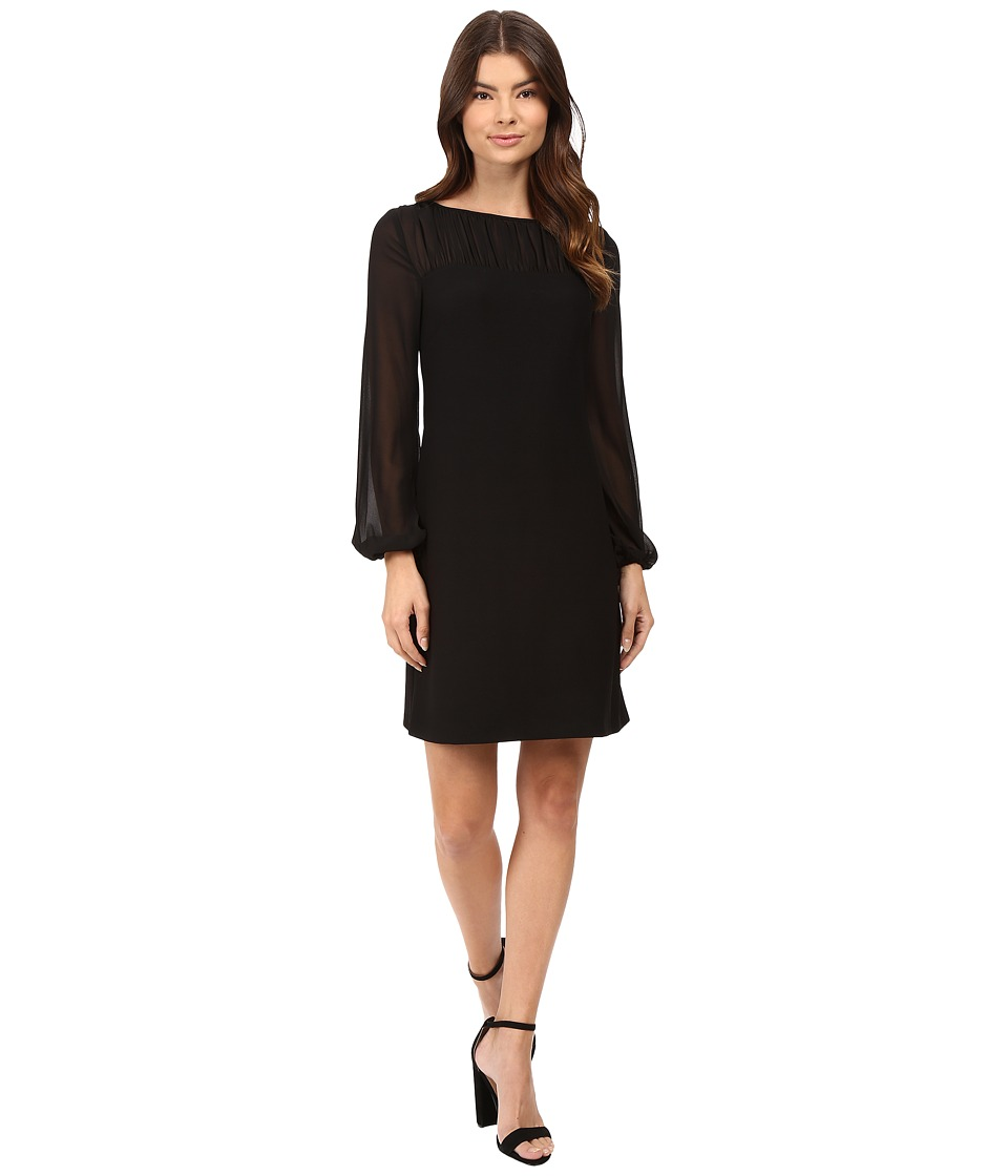 rsvp - Opal Long Sleeve Illusion Dress (Black) Women's Dress