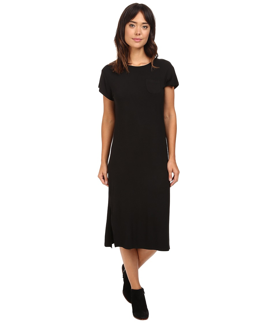 Culture Phit Azalea Short Sleeve Dress with Side Slits (Black) Women