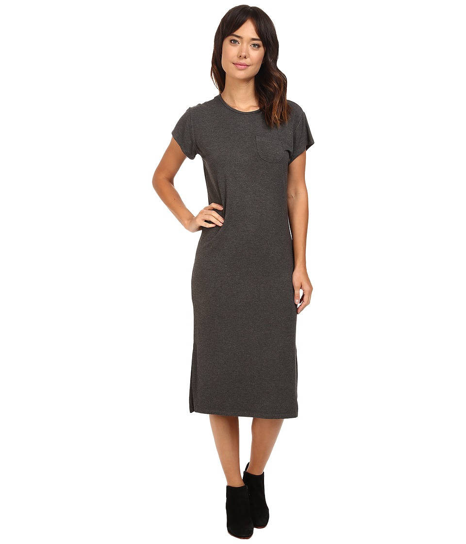Culture Phit Azalea Short Sleeve Dress with Side Slits (Grey) Women