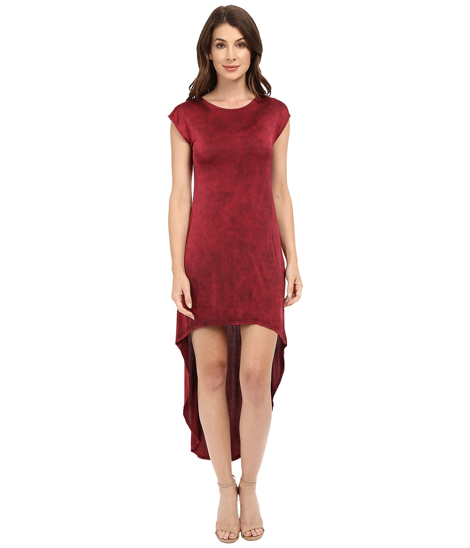 Culture Phit - Zinnia Cap Sleeve Washed Midi Dress (Red) Women's Dress