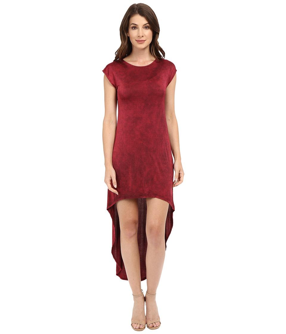 Culture Phit - Zinnia Cap Sleeve Washed Midi Dress (Red) Women's Dress