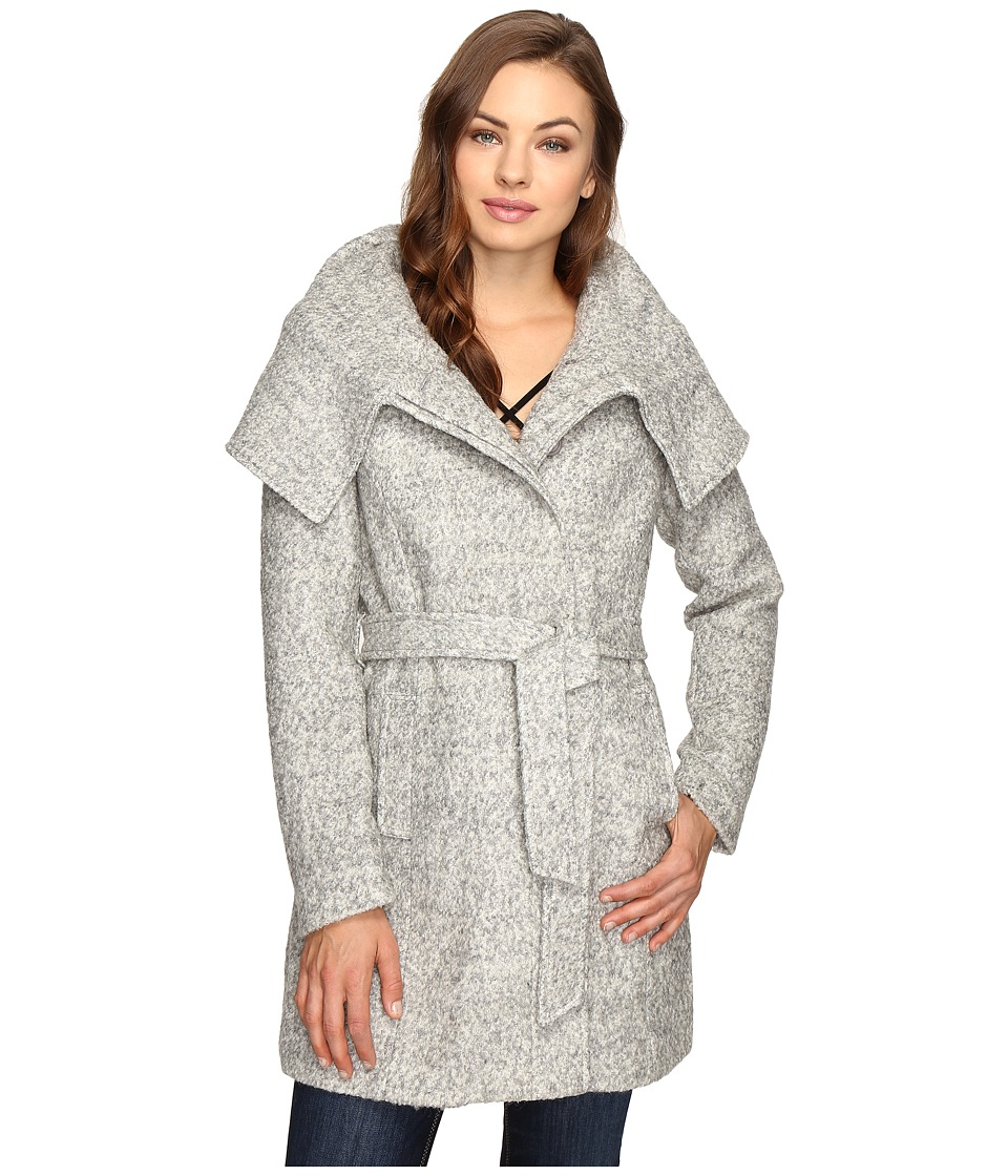 Brigitte Bailey - Catia Coat with Waist Tie (Heather Grey) Women's Coat