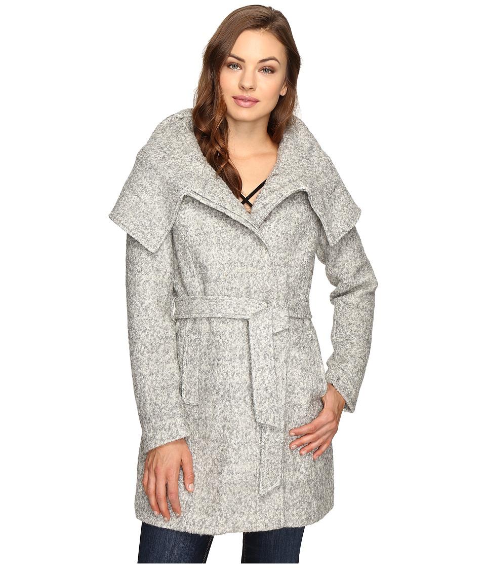 Brigitte Bailey - Catia Coat with Waist Tie (Heather Grey) Women's Coat