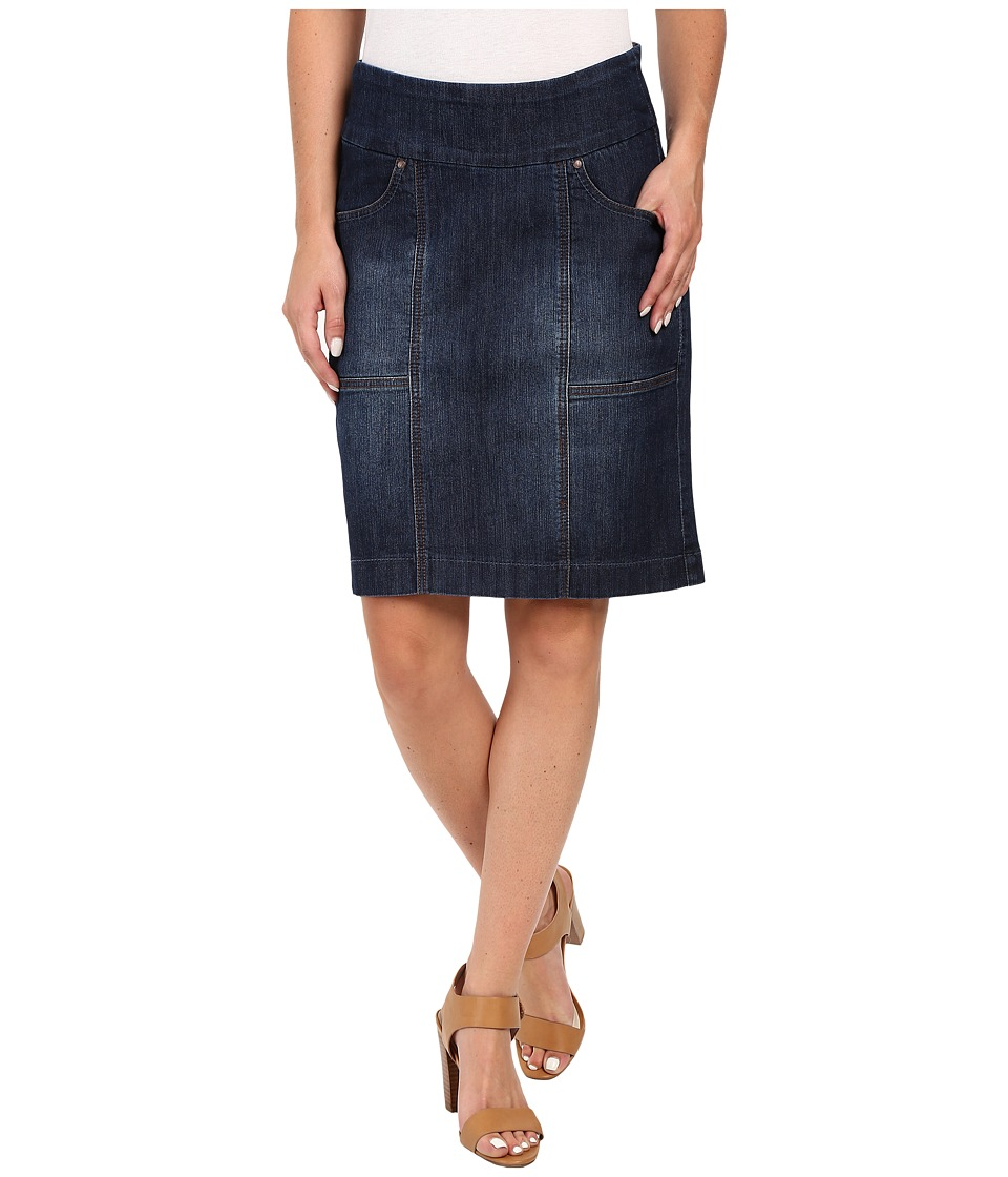 Jag Jeans - Janelle Pull-On Skirt Comfort Denim in Blue Shadow (Blue Shadow) Women's Skirt