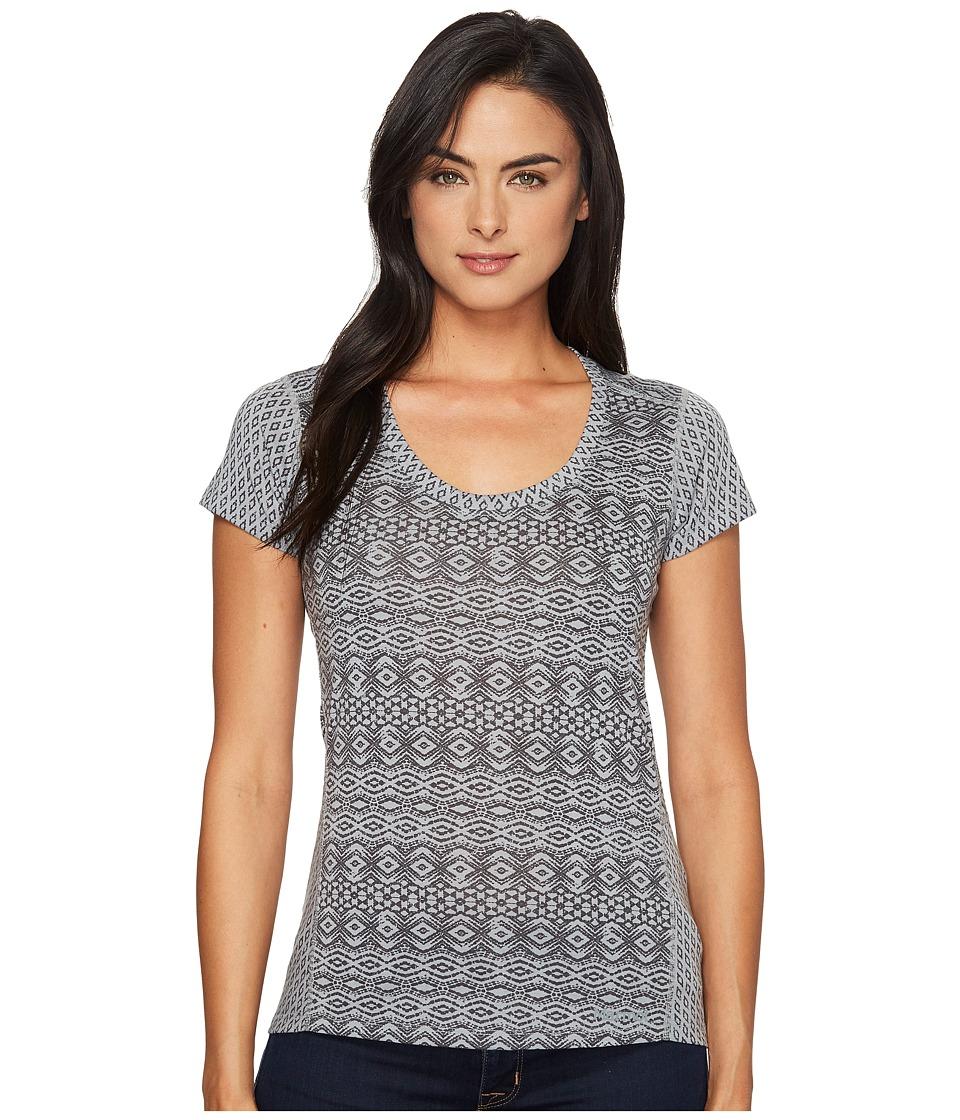 Marmot - Logan S/S (Grey Storm Lilly) Women's Short Sleeve Button Up