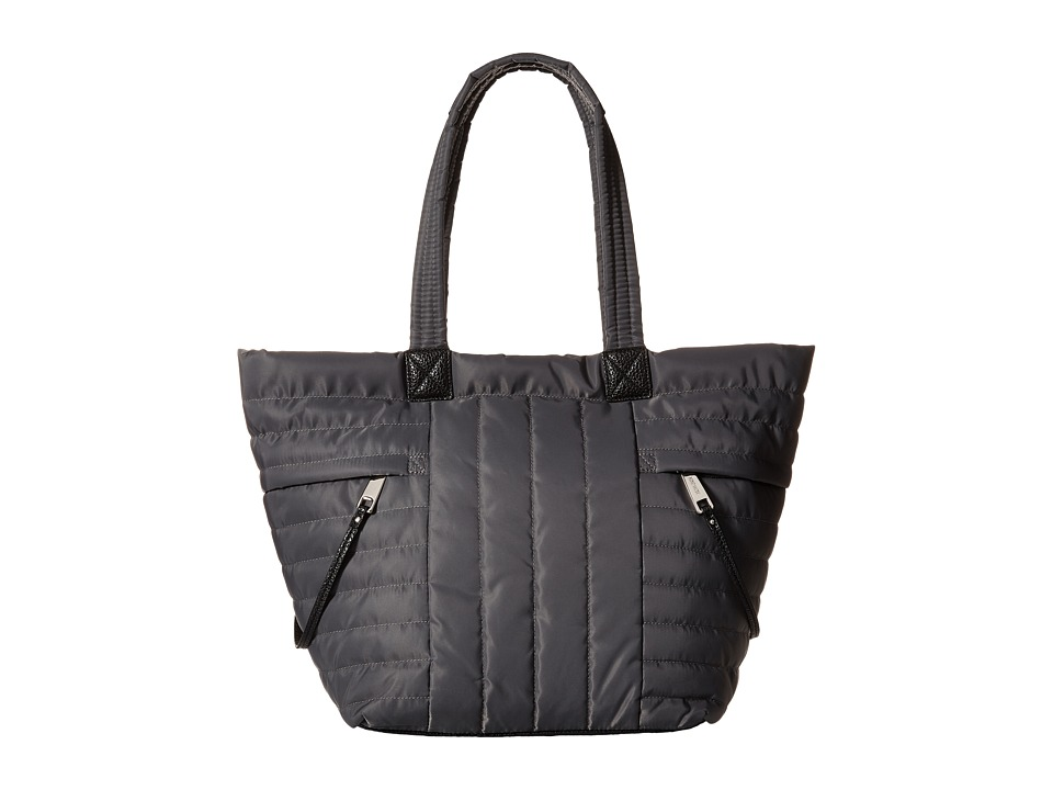 Nine West - Zippered Up Tote (Charcoal) Tote Handbags