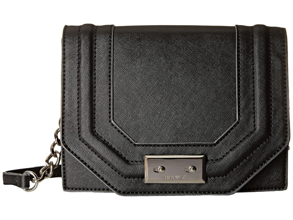 Nine West - Internal Affairs Small Crossbody (Black) Cross Body Handbags