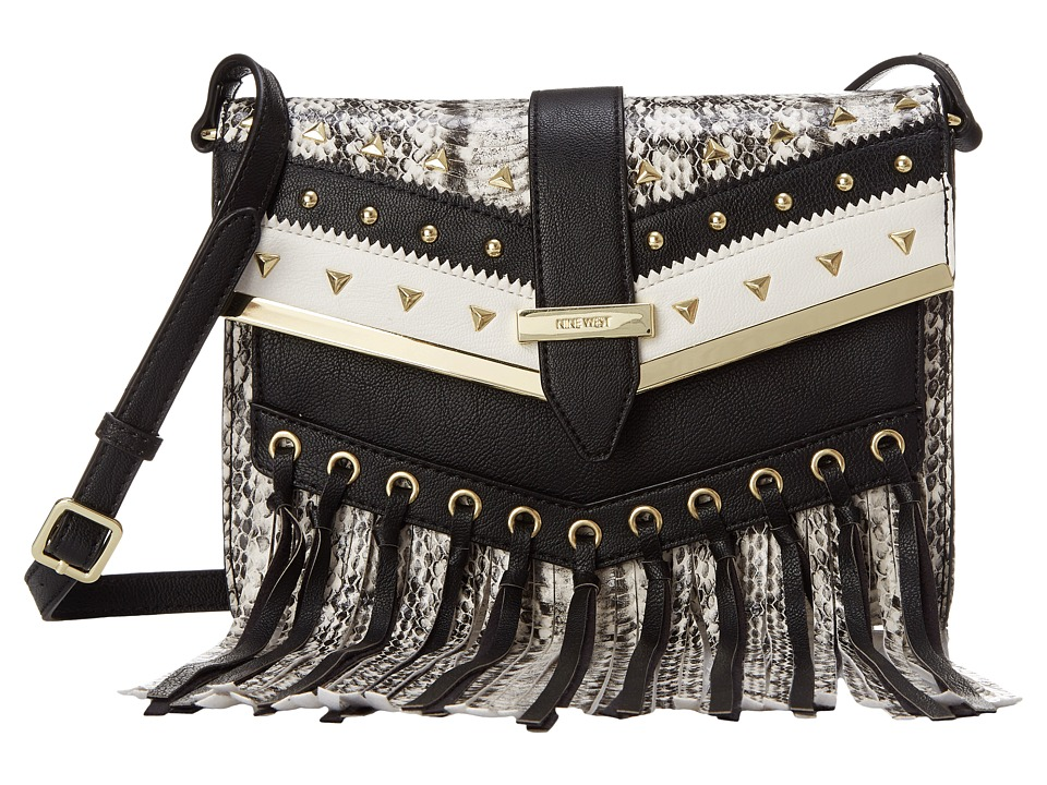 Nine West - Bohemian Breeze Small Crossbody (Black/White) Cross Body Handbags